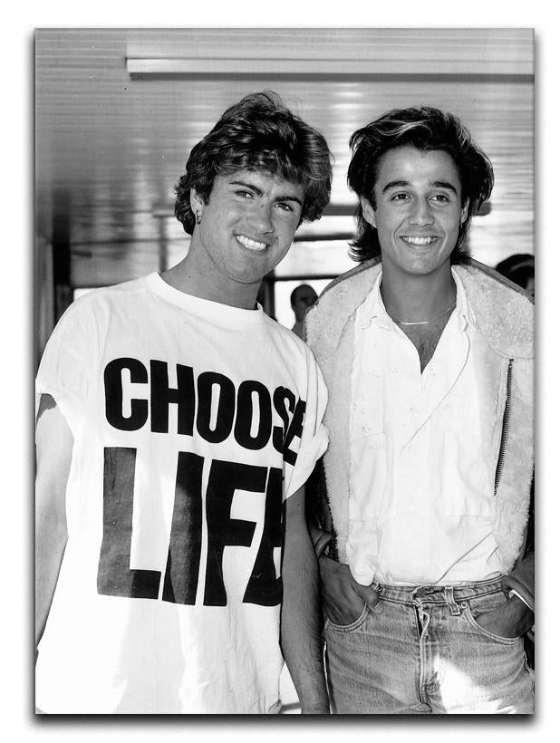 Whams George Michael and George Ridgeley Canvas Print or Poster