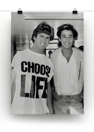 Wham's George Michael and George Ridgeley Print - Canvas Art Rocks - 2