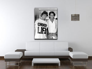 Wham's George Michael and George Ridgeley Print - Canvas Art Rocks - 4