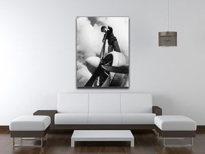 WW2 Oiling the propeller blade Canvas Print or Poster - Canvas Art Rocks - 4