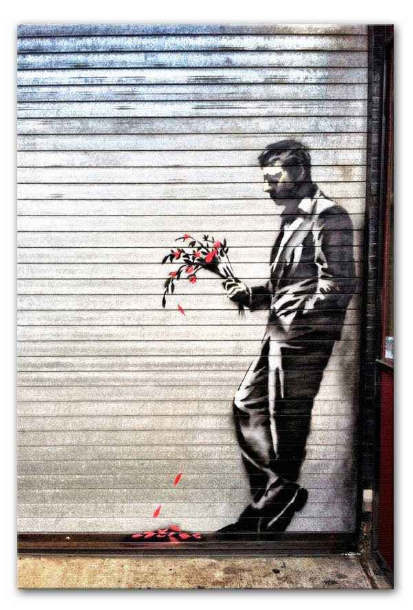 Banksy Waiting in Vain Canvas Print or Poster