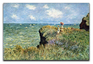 Walk on the cliffs by Monet Canvas Print & Poster  - Canvas Art Rocks - 1