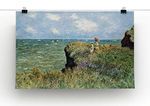 Walk on the cliffs by Monet Canvas Print & Poster - Canvas Art Rocks - 2