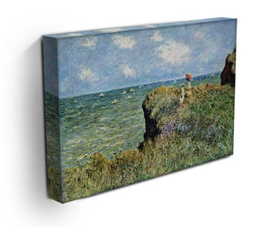 Walk on the cliffs by Monet Canvas Print & Poster - Canvas Art Rocks - 3