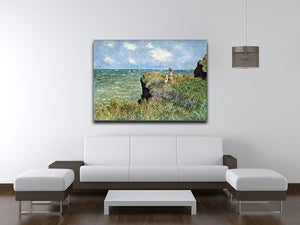 Walk on the cliffs by Monet Canvas Print & Poster - Canvas Art Rocks - 4