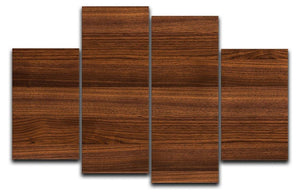 Walnut wood decorative 4 Split Panel Canvas - Canvas Art Rocks - 1