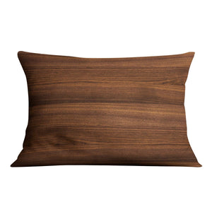 Walnut wood decorative Cushion - Canvas Art Rocks - 4