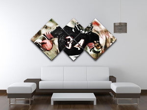 Walter Payton Chicago Bears 4 Square Multi Panel Canvas - Canvas Art Rocks - 3