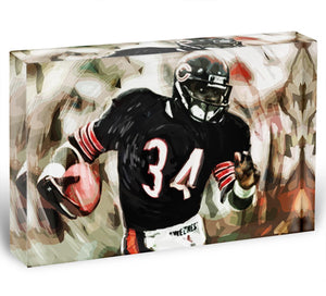 Walter Payton Chicago Bears Acrylic Block - Canvas Art Rocks - 1