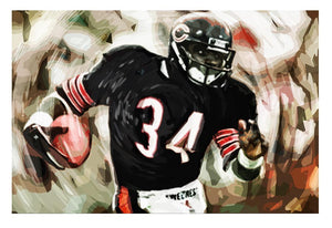 Walter Payton Chicago Bears Canvas Print - Canvas Art Rocks - 1