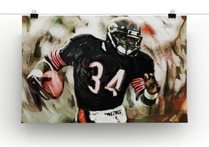 Walter Payton Chicago Bears Canvas Print - Canvas Art Rocks - 2