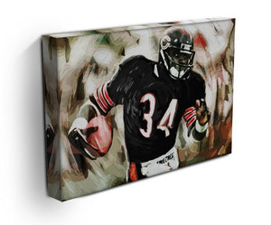 Walter Payton Chicago Bears Canvas Print - Canvas Art Rocks - 3