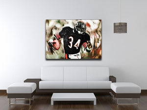 Walter Payton Chicago Bears Canvas Print - Canvas Art Rocks - 4