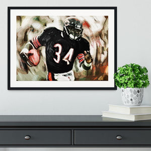 Walter Payton Chicago Bears Framed Print - Canvas Art Rocks - 1
