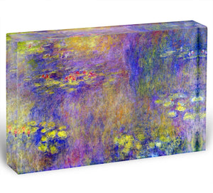 Water Lilies Yellow nirvana by Monet Acrylic Block - Canvas Art Rocks - 1
