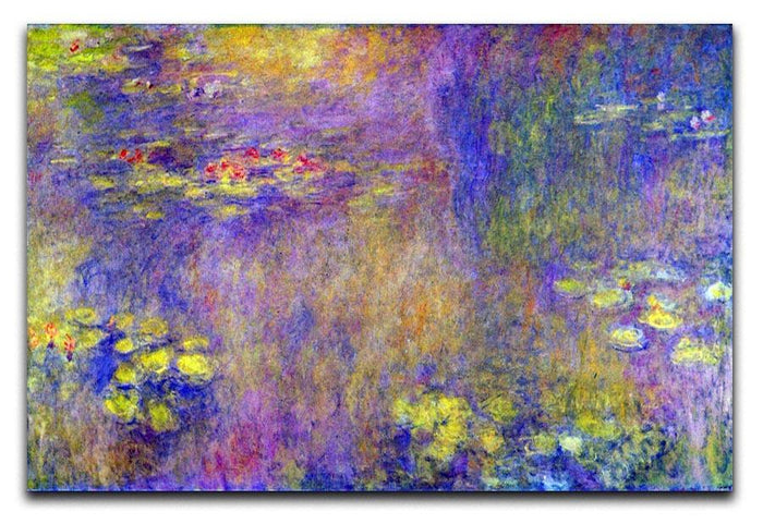Water Lilies Yellow nirvana by Monet Canvas Print or Poster