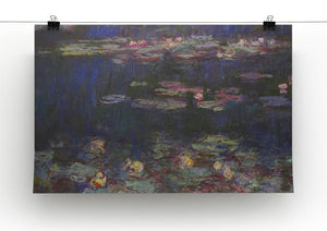 Water Lillies 11 by Monet Canvas Print & Poster - Canvas Art Rocks - 2