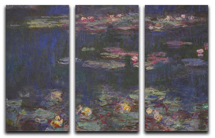 Water Lillies 11 by Monet Split Panel Canvas Print