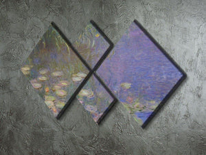Water Lillies 13 by Monet 4 Square Multi Panel Canvas - Canvas Art Rocks - 2