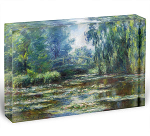 Water Lillies in Monets Garden by Monet Acrylic Block - Canvas Art Rocks - 1