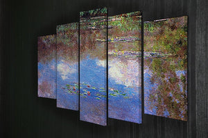 Water Lily Pond 4 by Monet 5 Split Panel Canvas - Canvas Art Rocks - 2