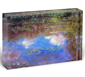 Water Lily Pond 4 by Monet Acrylic Block - Canvas Art Rocks - 1