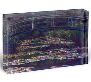 Water Lily Pond 5 by Monet Acrylic Block - Canvas Art Rocks - 1