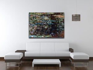 Water garden at Giverny by Monet Canvas Print & Poster - Canvas Art Rocks - 4