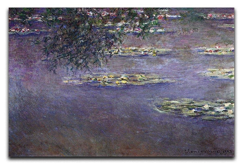Water lilies water landscape 1 by Monet Canvas Print & Poster  - Canvas Art Rocks - 1