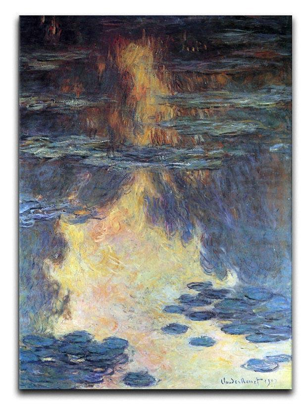 Water lilies water landscape 2 by Monet Canvas Print & Poster  - Canvas Art Rocks - 1