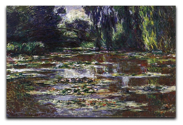 Water lilies water landscape 3 by Monet Canvas Print or Poster