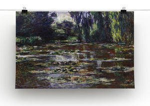 Water lilies water landscape 3 by Monet Canvas Print & Poster - Canvas Art Rocks - 2