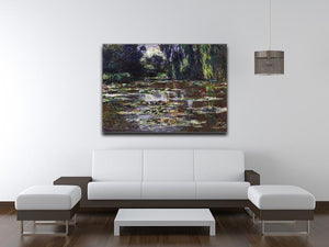 Water lilies water landscape 3 by Monet Canvas Print & Poster - Canvas Art Rocks - 4