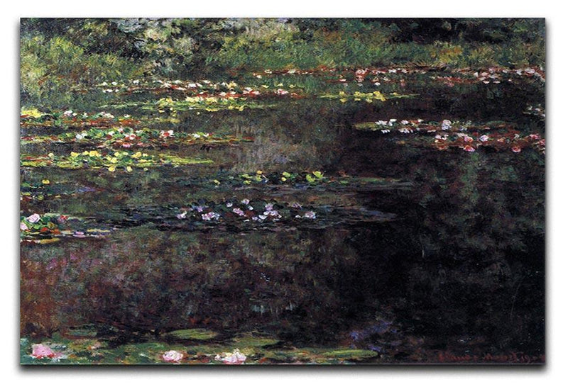 Water lilies water landscape 5 by Monet Canvas Print & Poster  - Canvas Art Rocks - 1