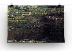 Water lilies water landscape 5 by Monet Canvas Print & Poster - Canvas Art Rocks - 2