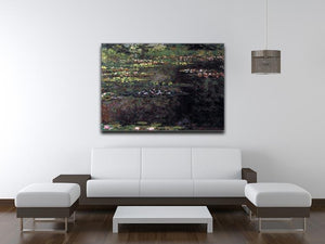 Water lilies water landscape 5 by Monet Canvas Print & Poster - Canvas Art Rocks - 4
