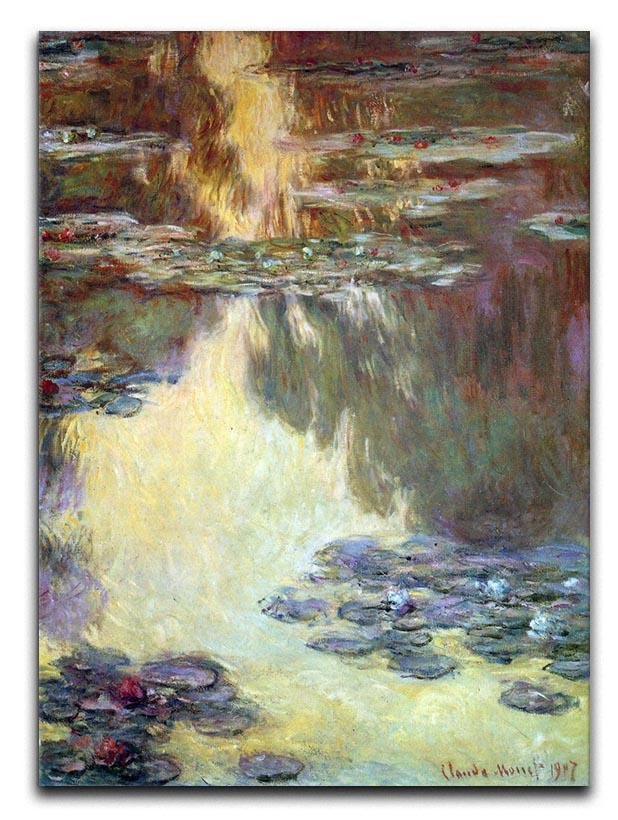 Water lilies water landscape 6 by Monet Canvas Print & Poster  - Canvas Art Rocks - 1