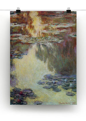 Water lilies water landscape 6 by Monet Canvas Print & Poster - Canvas Art Rocks - 2