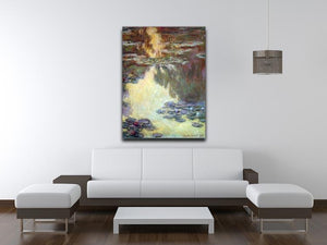 Water lilies water landscape 6 by Monet Canvas Print & Poster - Canvas Art Rocks - 4