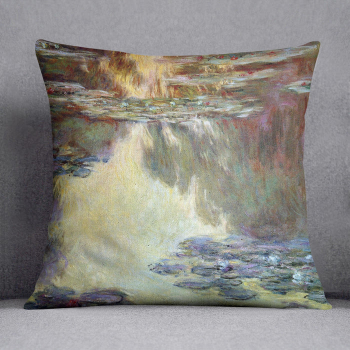 Water lilies water landscape 6 by Monet Throw Pillow