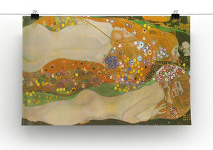 Water snakes friends II by Klimt Canvas Print or Poster - Canvas Art Rocks - 2