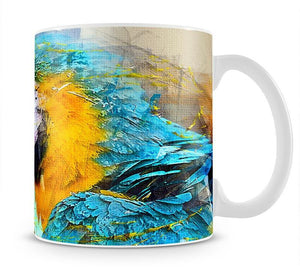 Watercolour Parrot Close Up Mug - Canvas Art Rocks - 1