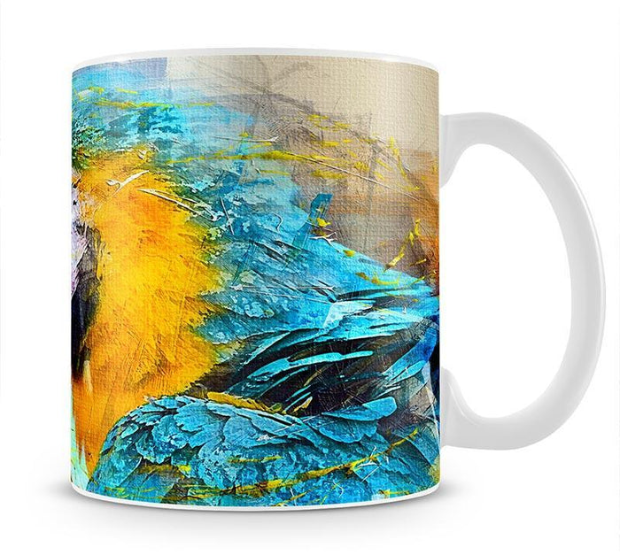 Watercolour Parrot Close Up Mug