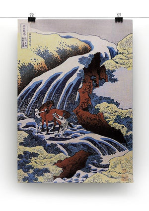 Waterfall and horse washing by Hokusai Canvas Print or Poster - Canvas Art Rocks - 2