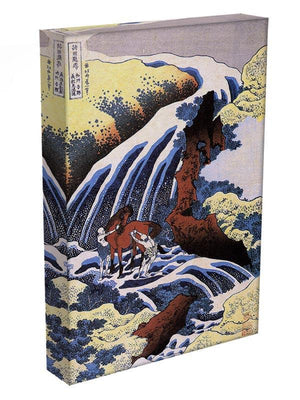 Waterfall and horse washing by Hokusai Canvas Print or Poster - Canvas Art Rocks - 3