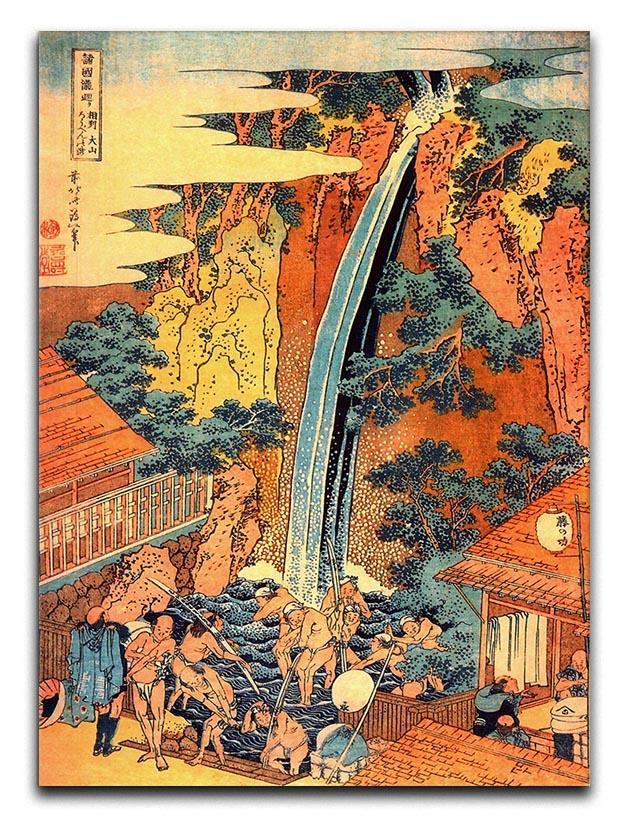 Waterfalls in all provinces 2 by Hokusai Canvas Print or Poster  - Canvas Art Rocks - 1
