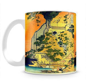 Waterfalls in all provinces by Hokusai Mug - Canvas Art Rocks - 2