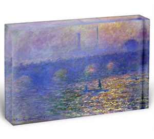 Waterloo Bridge by Monet Acrylic Block - Canvas Art Rocks - 1