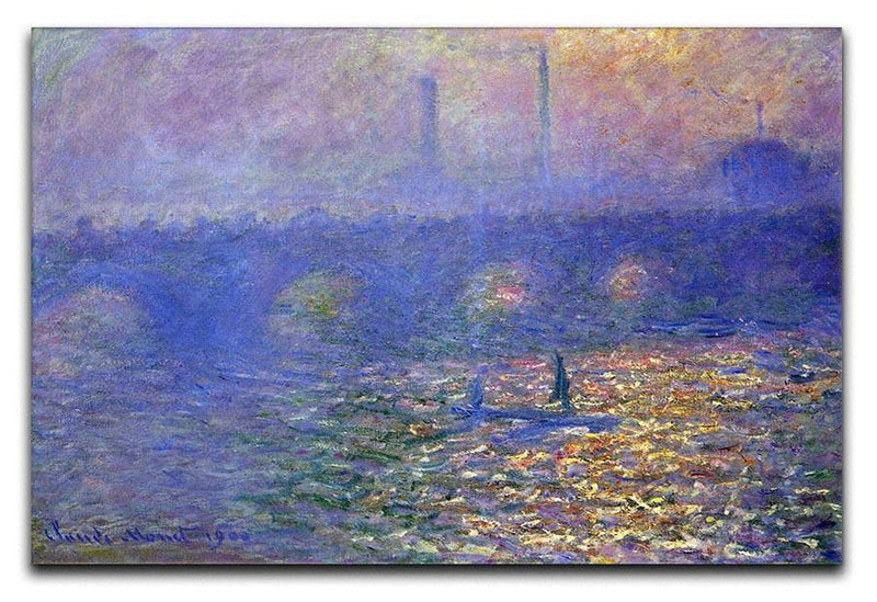 Waterloo Bridge by Monet Canvas Print & Poster  - Canvas Art Rocks - 1