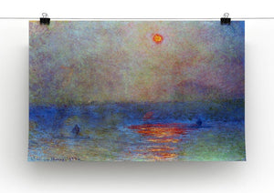 Waterloo Bridge the sun in the fog by Monet Canvas Print & Poster - Canvas Art Rocks - 2